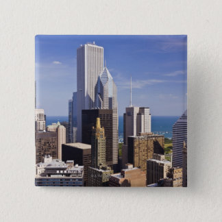 Chicago Skyline Looking towards Lake Michigan 15 Cm Square Badge