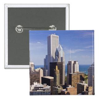 Chicago Skyline Looking towards Lake Michigan 15 Cm Square Badge