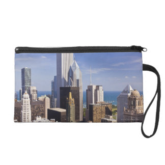Chicago Skyline Looking towards Lake Michigan Wristlet Clutches