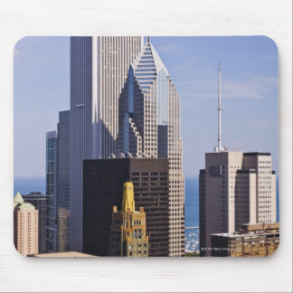 Chicago Skyline Looking towards lake Michigan Mouse Mat
