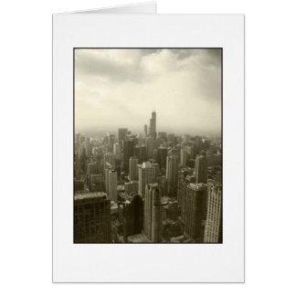 Chicago Skyline Mono Card