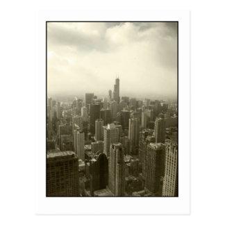 Chicago Skyline Mono Postcard