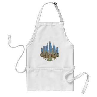 Chicago Skyline newwave beachy Standard Apron