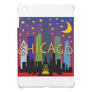 Chicago Skyline nightlife Case For The iPad Mini