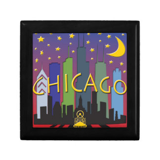 Chicago Skyline nightlife Gift Box