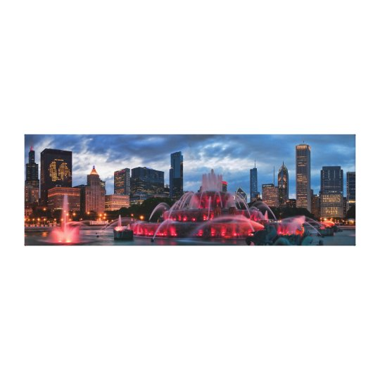 Chicago Skyline on Canvas 12x36