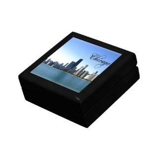 Chicago Skyline Photo Across from Lake Michigan Jewelry Box