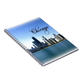 Chicago Skyline Photo Across from Lake Michigan Spiral Note Book