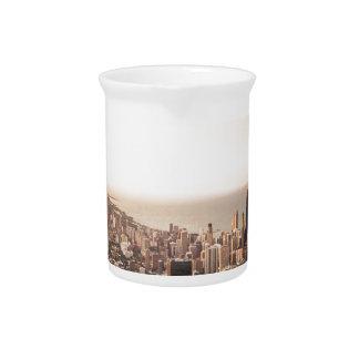 Chicago skyline pitcher