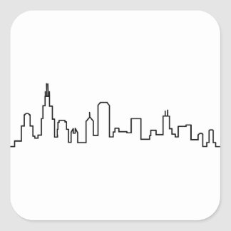 Chicago Skyline Series Square Sticker