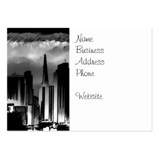 Chicago Skyline Sketch in Black and White Business Cards