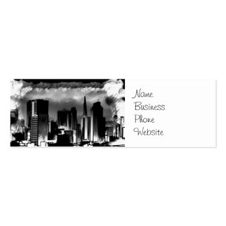 Chicago Skyline Sketch in Black and White Business Card Template
