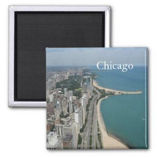 Chicago Skyline Square Magnet