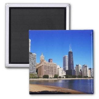 Chicago Skyline. Square Magnet