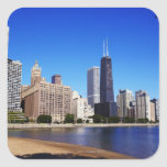 Chicago Skyline. Square Sticker