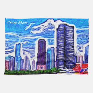 Chicago Skyline Tea Towel