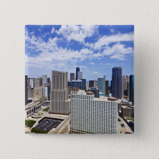 Chicago Skyline to the North of Downtown 15 Cm Square Badge