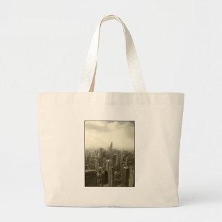 Chicago Skyline Jumbo Tote Bag