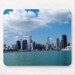 Chicago skyline view from Navy Pier Mouse Pads