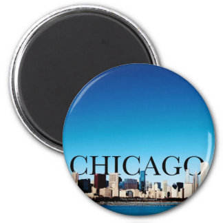 Chicago Skyline with CHICAGO in the Sky Magnet