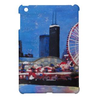 Chicago Skyline with Ferris Wheel iPad Mini Covers