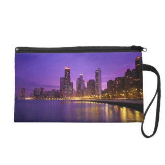 Chicago Skyline Wristlet Clutch