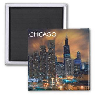 Chicago Skyscraper Magnet 2 Inch Square Magnet
