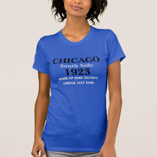 CHICAGO Southside 1923 Jazz Ladies T-Shirt (Blue)