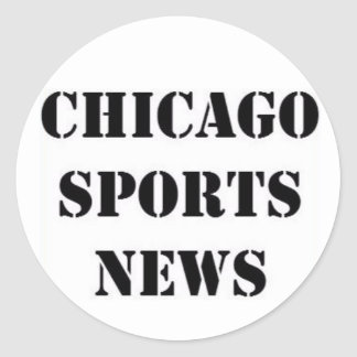Chicago Sports News Classic Round Sticker