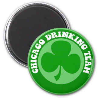 Chicago St Patrick's Day 6 Cm Round Magnet