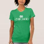 Chicago St Patricks Day t shirt with shamrock logo