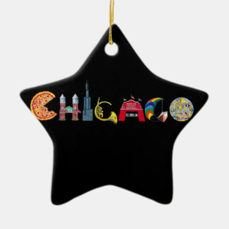 Chicago Star Ornament