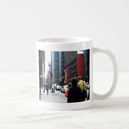 Chicago Street Scene Dearborn and Adams Sts Basic White Mug