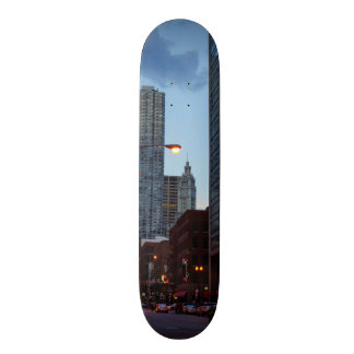 Chicago Street Scene Skateboard