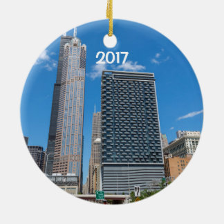 Chicago Style Deep Dish 2 sided ornament