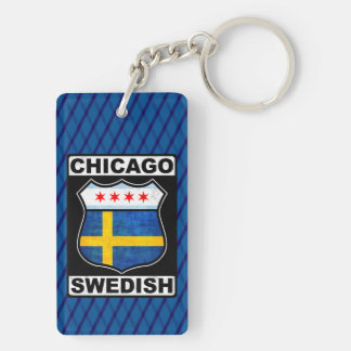 Chicago Swedish American Keyring