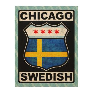 Chicago Swedish American Wood Prints