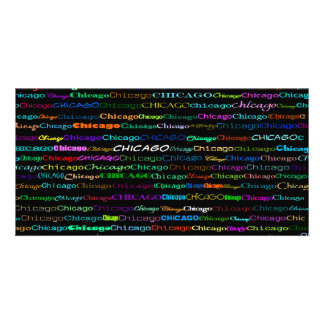 Chicago Text Design I Photo Card