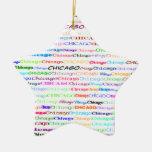 Chicago Text Design II Star Ornament