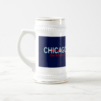 Chicago the Windy City, Chicago Flag Design Beer Steins
