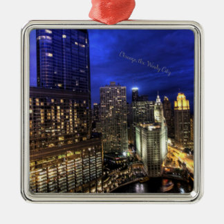 Chicago, the Windy City Christmas Ornament