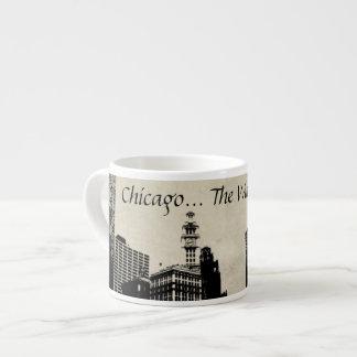 Chicago The Windy City Espresso Mug 6 Oz Ceramic Espresso Cup
