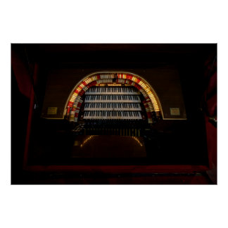 CHICAGO THEATER MIGHTY WURLITZER PIPE ORGAN POSTER