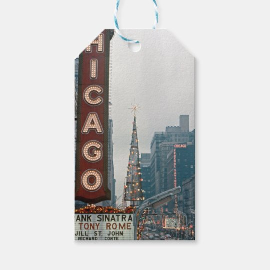 Chicago Theatre 1967 Christmas on State Street Gift Tags