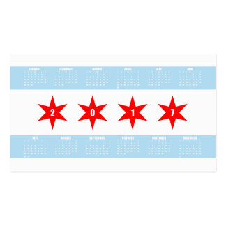 Chicago Themed Business Card w/ 2017 Calendar