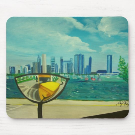 Chicago through cateyes mouse mat
