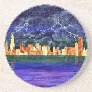 Chicago Thunderstorm Beverage Coaster