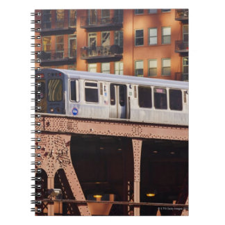 Chicago Train at Riverbend Notebook