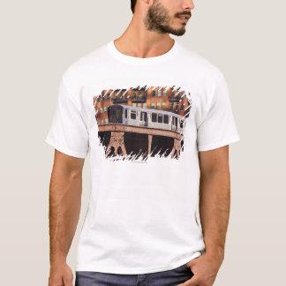 Chicago Train at Riverbend T-Shirt
