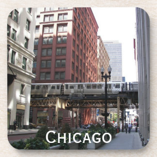 Chicago Travel Photo Coaster Set